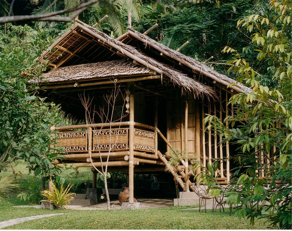 Huts, cottages, gazebos - buglas bamboo institute